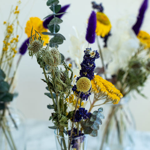 Starry Night Jam Jars - Dried Flower Arrangements