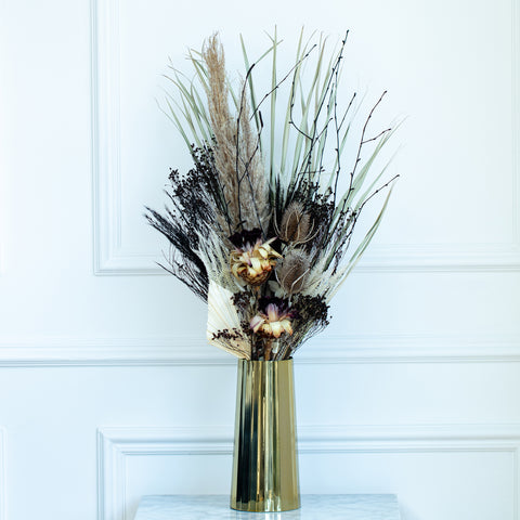 Noir et Blanc - Dried Flower Arrangements