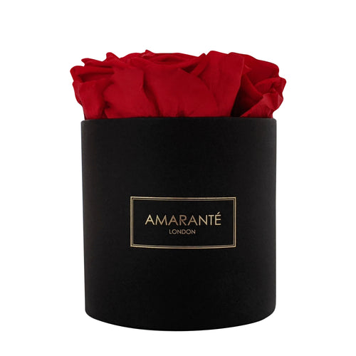 Small Round - Black Box - Amarante London Roses
