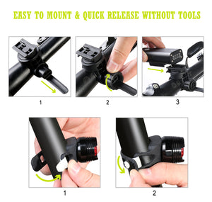 C168 bicycle light with 5 modes and wide floodlight