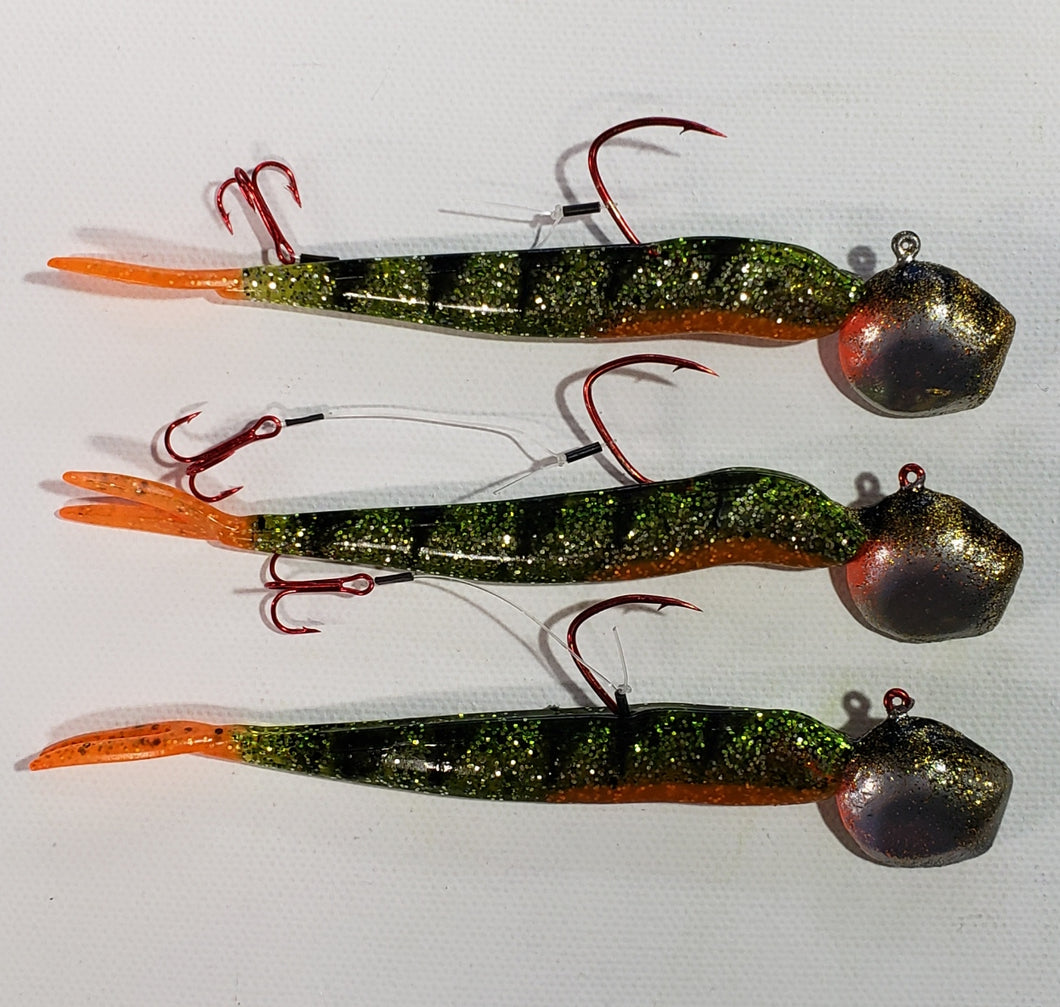 Lure Lipstick Custom Walleye Ready Rigs 1/2 oz or 3/4 oz - Camo Perch
