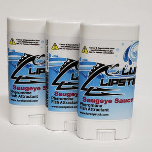 Lure Lipstick - Saugeye Sauce - 3 Pack 4oz Wax Tubes - FREE SHIPPING USA ONLY
