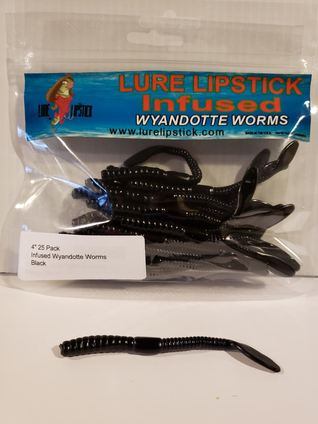 4in 25 Pack Wyandotte Worms - Black