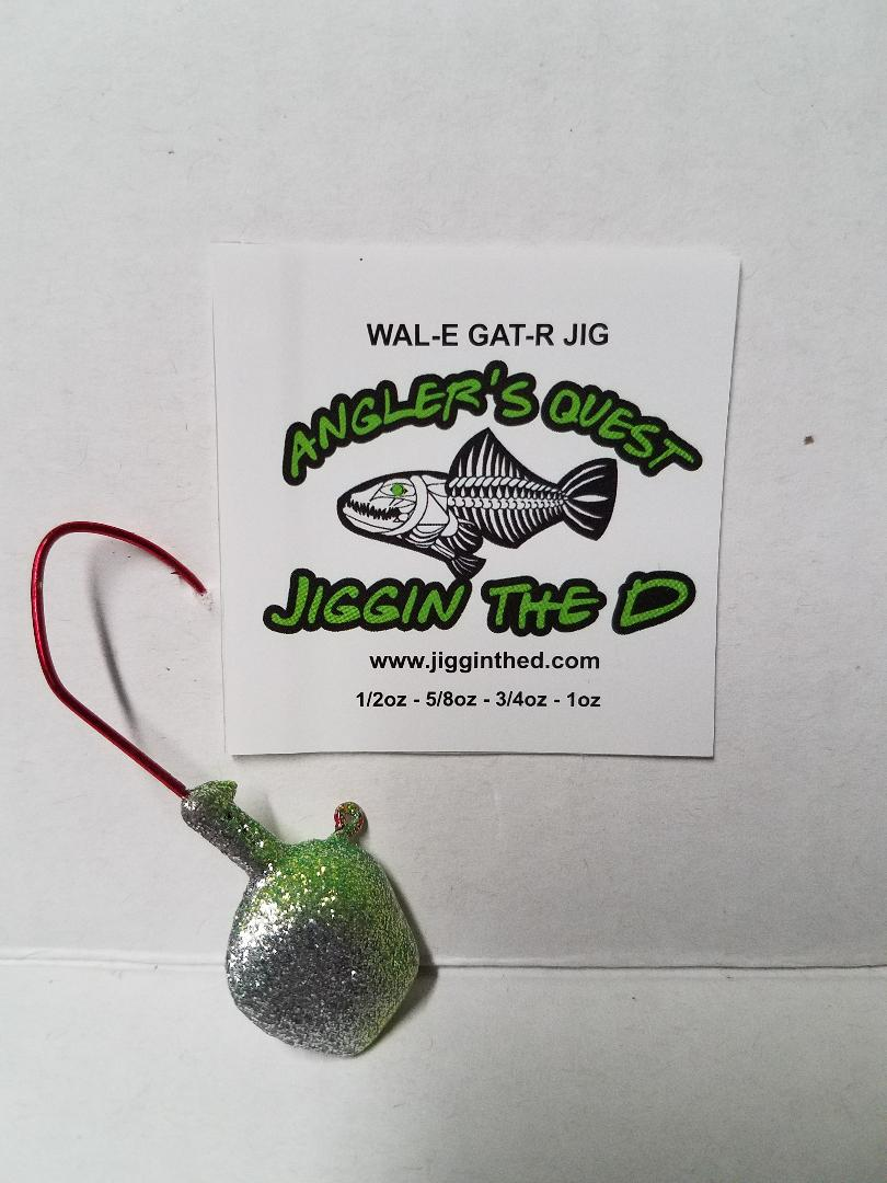 Wal-E-Gat-R 3/4 oz. Custom Jig Heads 3 Pack Sold by Lure Lipstick- Anti Ice