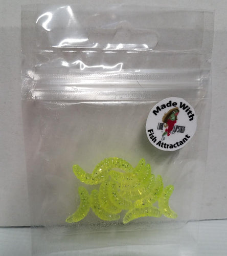 Infused Wax Worms 12 Pack Chartreuse