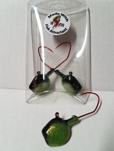Wal-E-Gat-R 3/4 oz. Custom Jig Heads 3 Pack Sold by Lure Lipstick-Frostbite