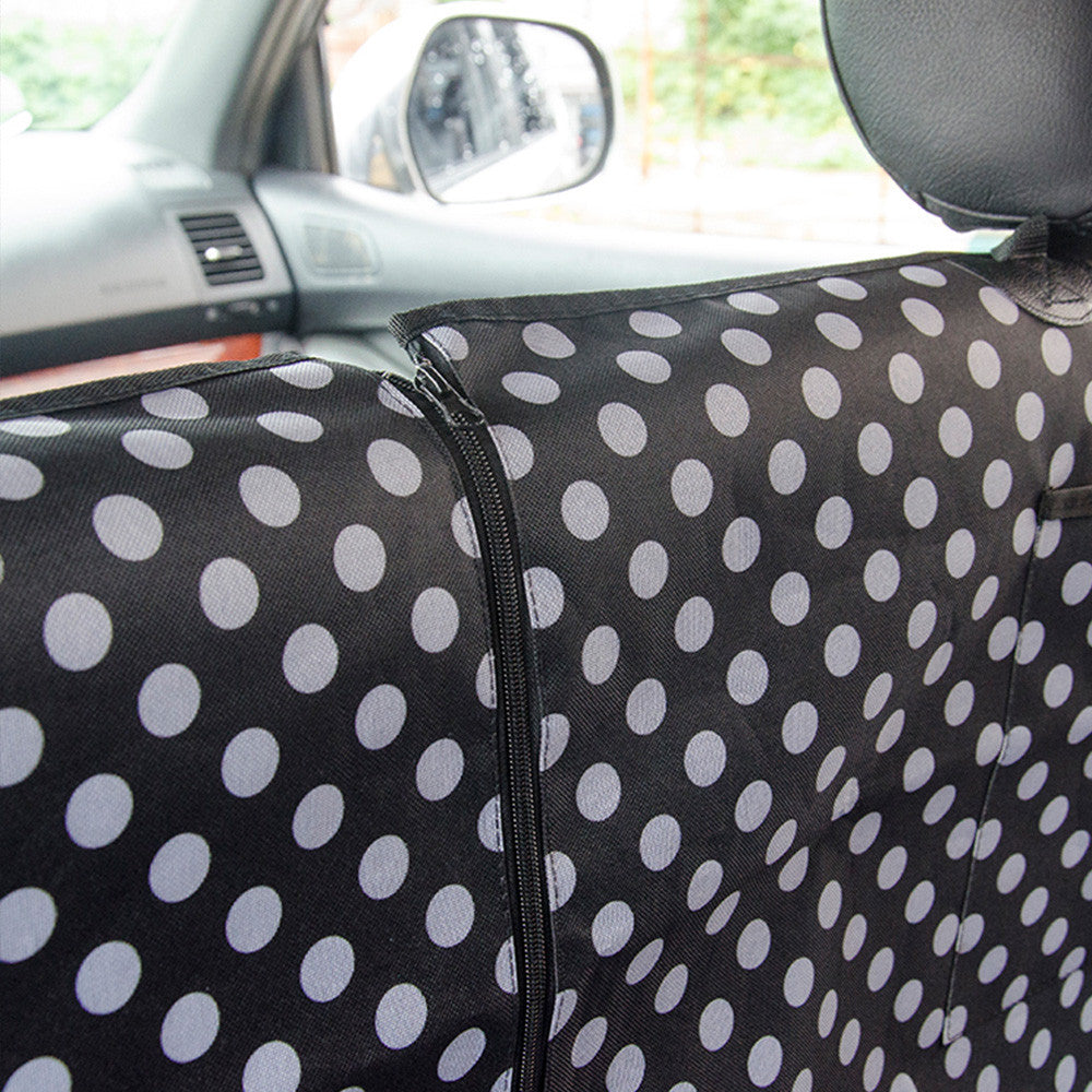 Pet Car Seat Hammock Cover - Polka Dots
