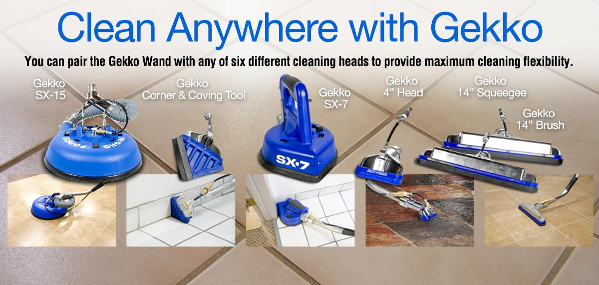 Gekko tile and grout tools