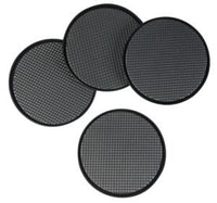 "CARPET SKIDDERS 9cm (3.5"") SET OF 4 BLACK"