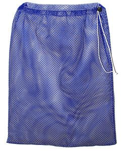 NYLON MESH HOSE BAG HF BLUE WITH SHOLDER STRAP
