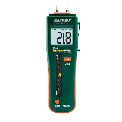 EXTECH MOISTURE METER PIN/PINLESS COMBINATION MO260