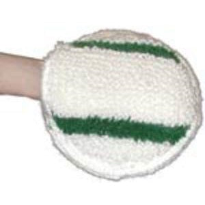 HAND BONNET/ENCAP PAD 20CM GREEN STRIP