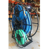SPACE SAVER VACUUM HOSE REEL 60 MTRS POWDER COATED CHARCOAL