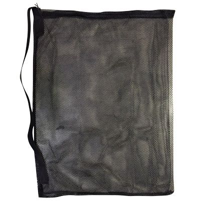 NYLON MESH HOSE BAG HF BLACK WITH SHOLDER STRAP AX14