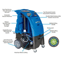 RAZORBACK TRACTX 12GAL 220 PSI CARPET EXTRACTOR MACHINE ONLY