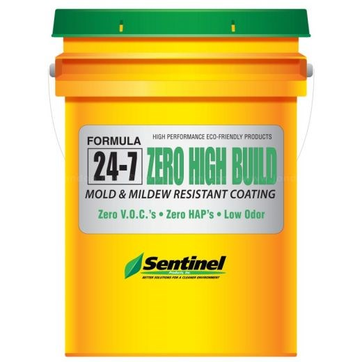 SENTINEL 24‑7 ZERO HIGH BUILD INTERIOR MOLD & MILDEW RESISTANT COATING WHITE 18.9LTR