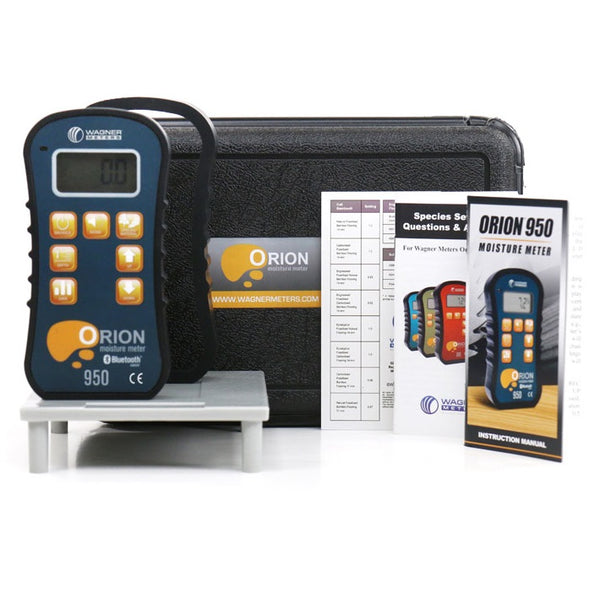 WAGNER ORION 950 SMART PINLESS WOOD MOISTURE METER WITH INTERNAL EMC CALCULATOR AND TEMPERATURE RH SENSOR KIT