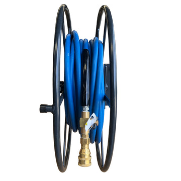 SPACE SAVER SOLUTION HOSE REEL 60 MTRS POWDER COATED CHARCOAL