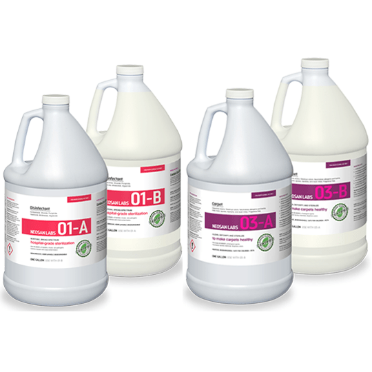 NEOSAN LABS DISINFECTION KIT 1 x 01 DISINFECTION (A&B) 1 x 03 CARPET (A&B)