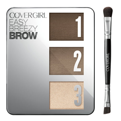 Covergirl Easy Breezy Brow Brow Powder Kit, 705 Rich Brown