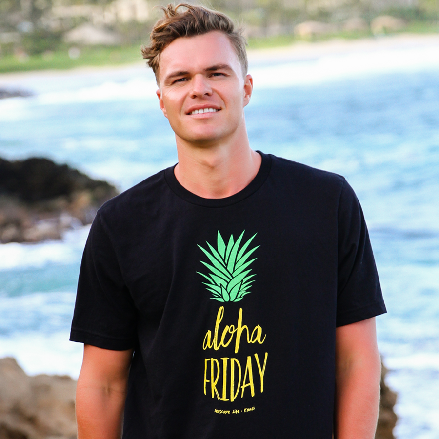 Aloha Friday Pineapple Mens / Unisex T-shirt - Seascape Life