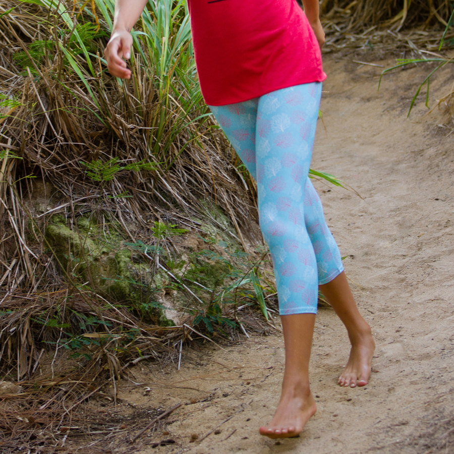 Fan Coral Womens Leggings - Seascape Life