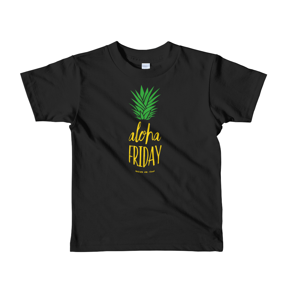Aloha Friday Pineapple Kids T-shirt - Seascape Life
