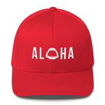 Aloha with Shark Jaws Flexfit Structured Twill Hat