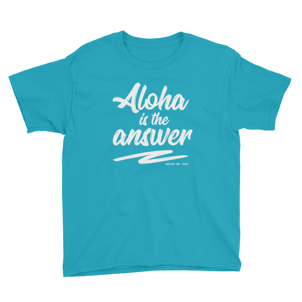 Aloha Is The Answer Youth T-Shirt - Seascape Life