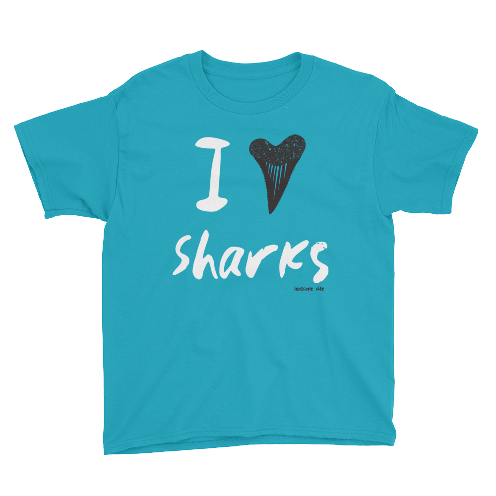 I Heart / Tooth Sharks Youth T-Shirt - Seascape Life