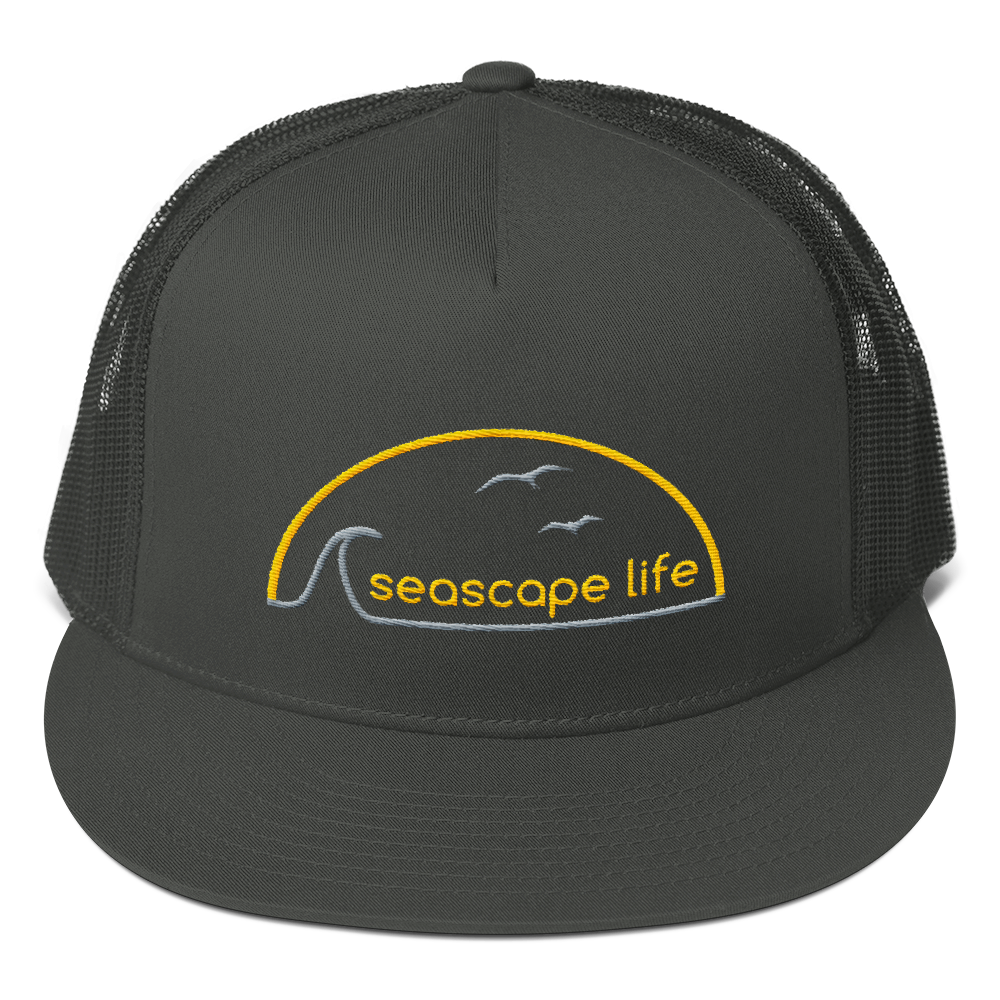 Retro Seascape Life Trucker Hat - Seascape Life