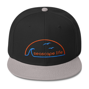 Retro Seascape Life Wool Blend Snapback Hat - Seascape Life