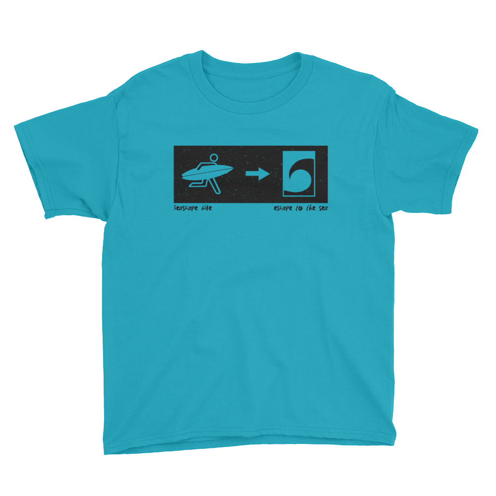 Exit To The Sea Youth Short Sleeve T-Shirt - Seascape Life