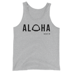 Aloha with Shark Jaws Mens / Unisex Tank Top