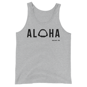 Aloha with Shark Jaws Mens / Unisex Tank Top - Seascape Life