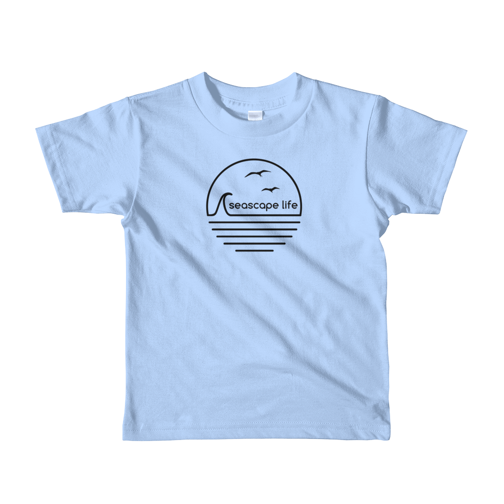 Retro Seascape Life Kids T-Shirt