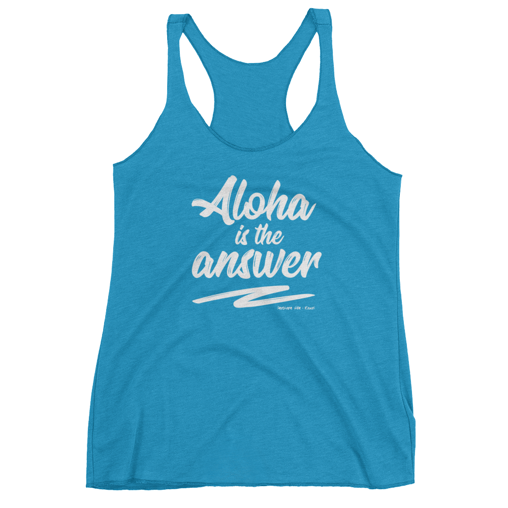 Aloha is the Answer Women's Racerback Tank - Seascape Life