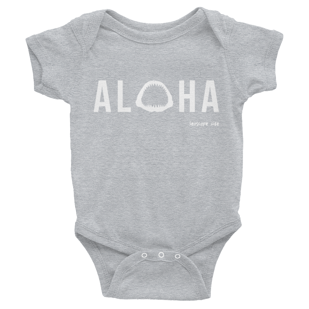 Aloha with Shark Jaws Infant Onesie - Seascape Life