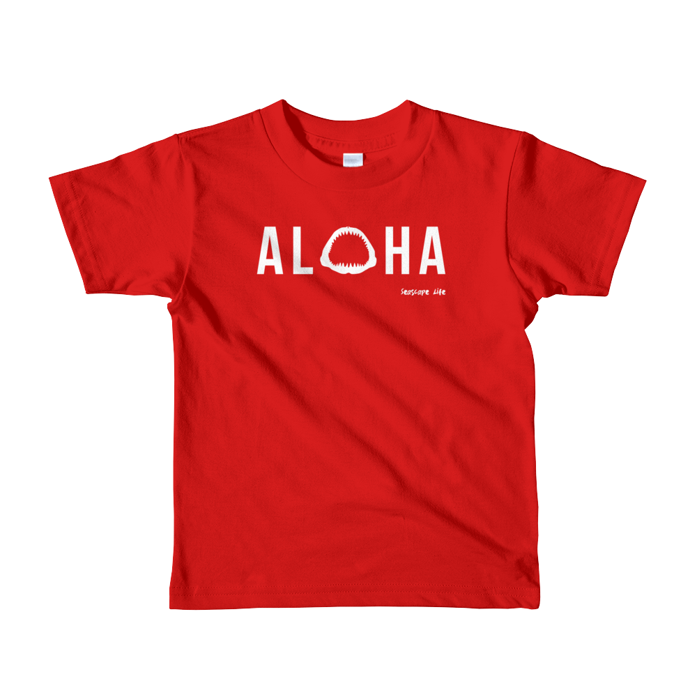 Aloha with Shark Jaws Kids T-Shirt - Seascape Life