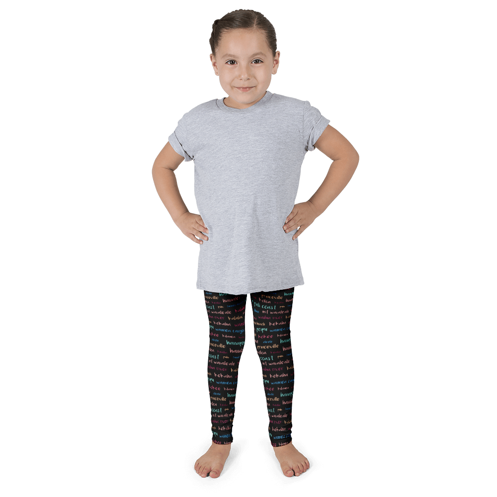 Kauai Towns & Sites Kid's Leggings - Seascape Life