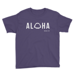 Aloha with Shark Jaws Youth T-Shirt - Seascape Life