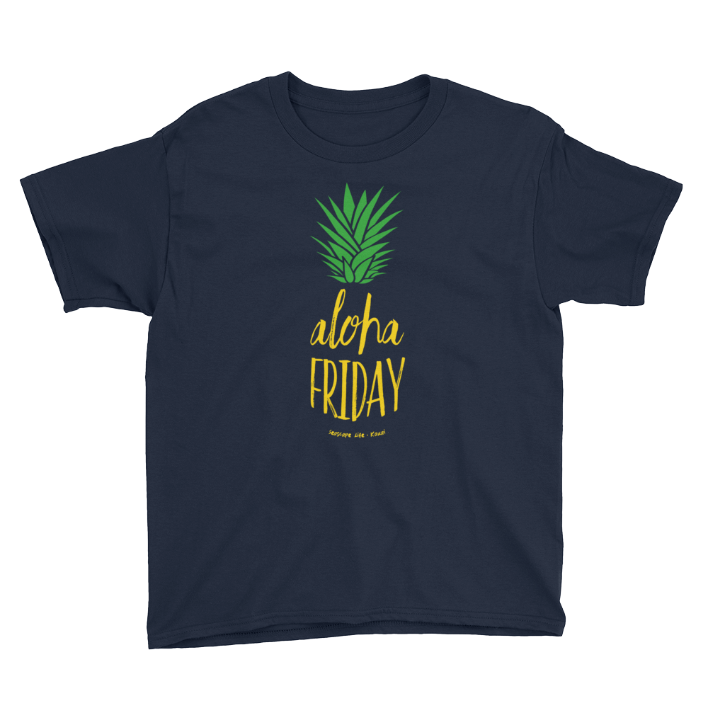 Aloha Friday Pineapple Youth T-Shirt - Seascape Life