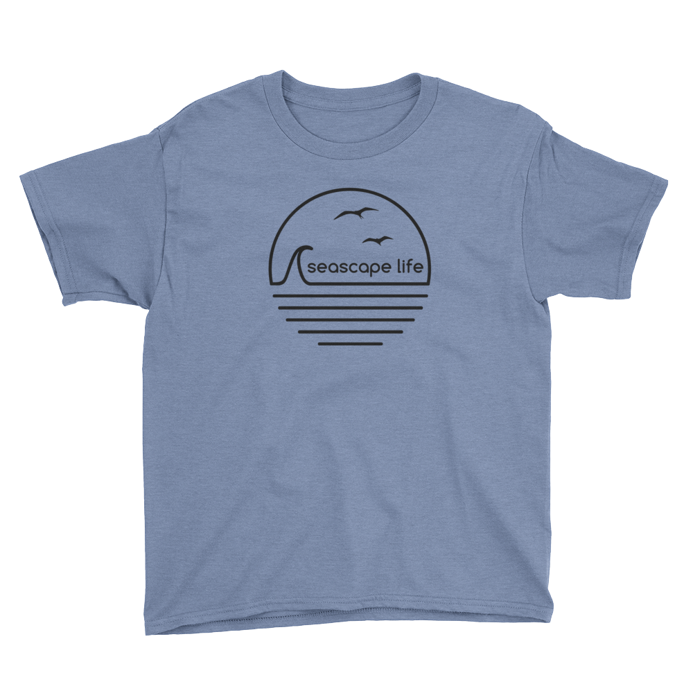 Retro Seascape Life Youth T-Shirt - Seascape Life
