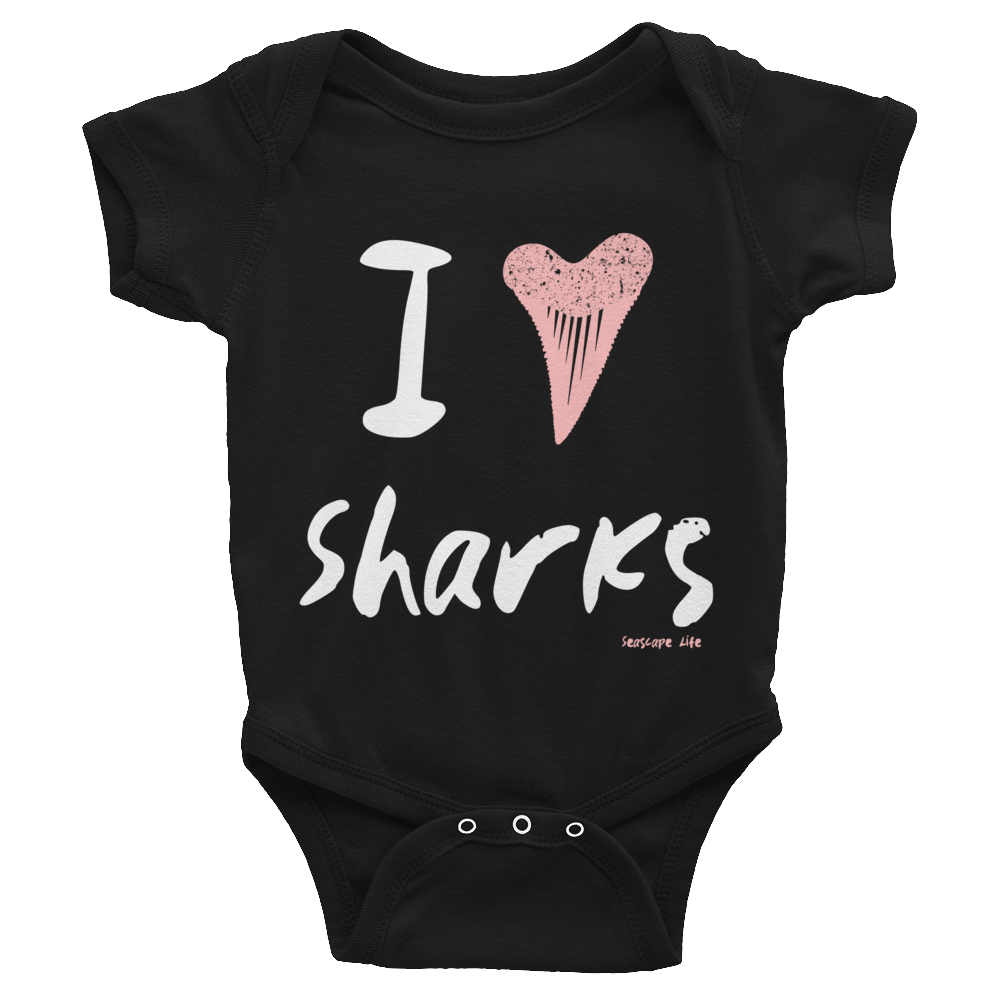 I Heart / Tooth Sharks Infant Onesie