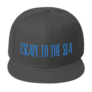 Escape To The Sea Wool Blend Snapback Hat - Seascape Life