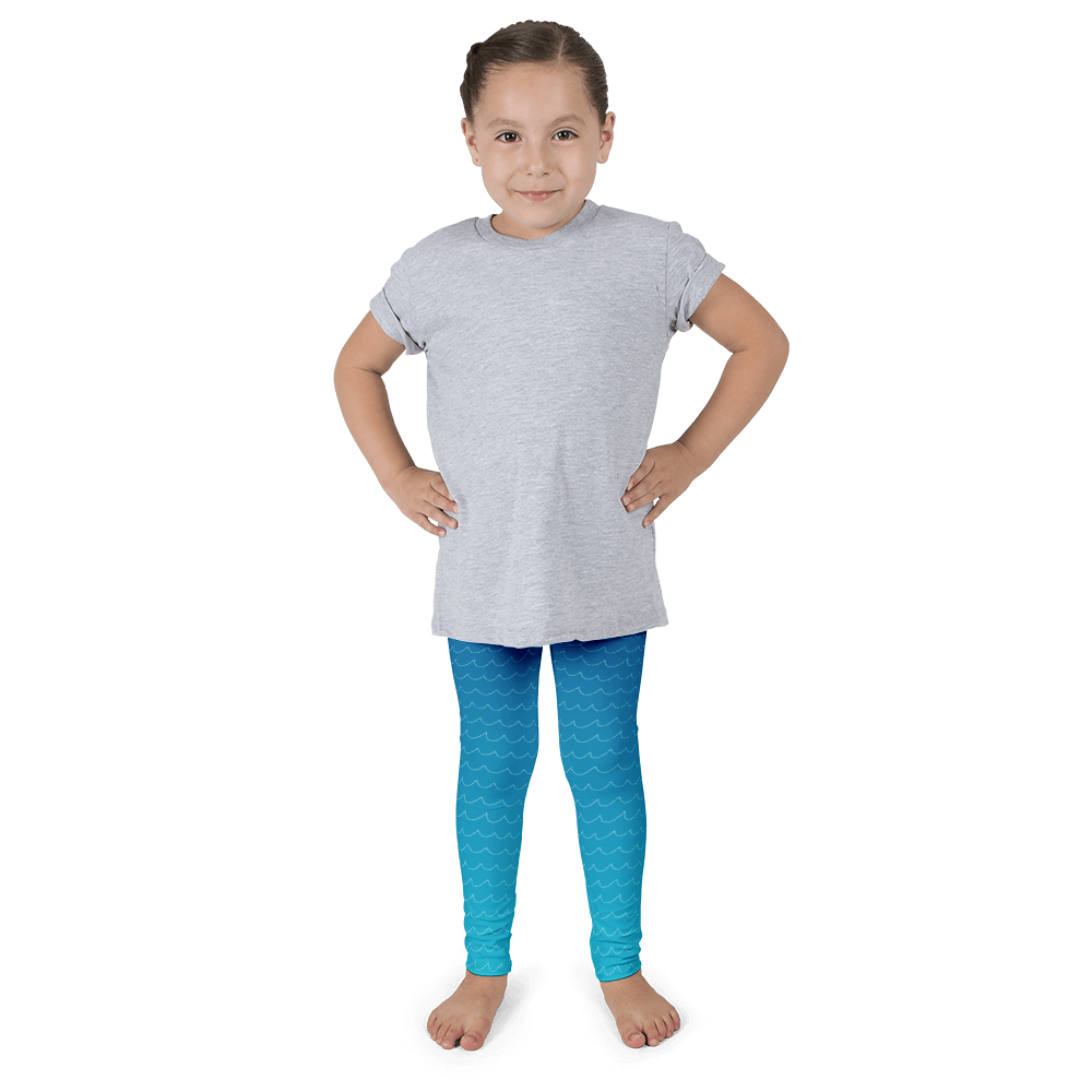 Wave Gradient Mermaid Kid's Leggings - Seascape Life