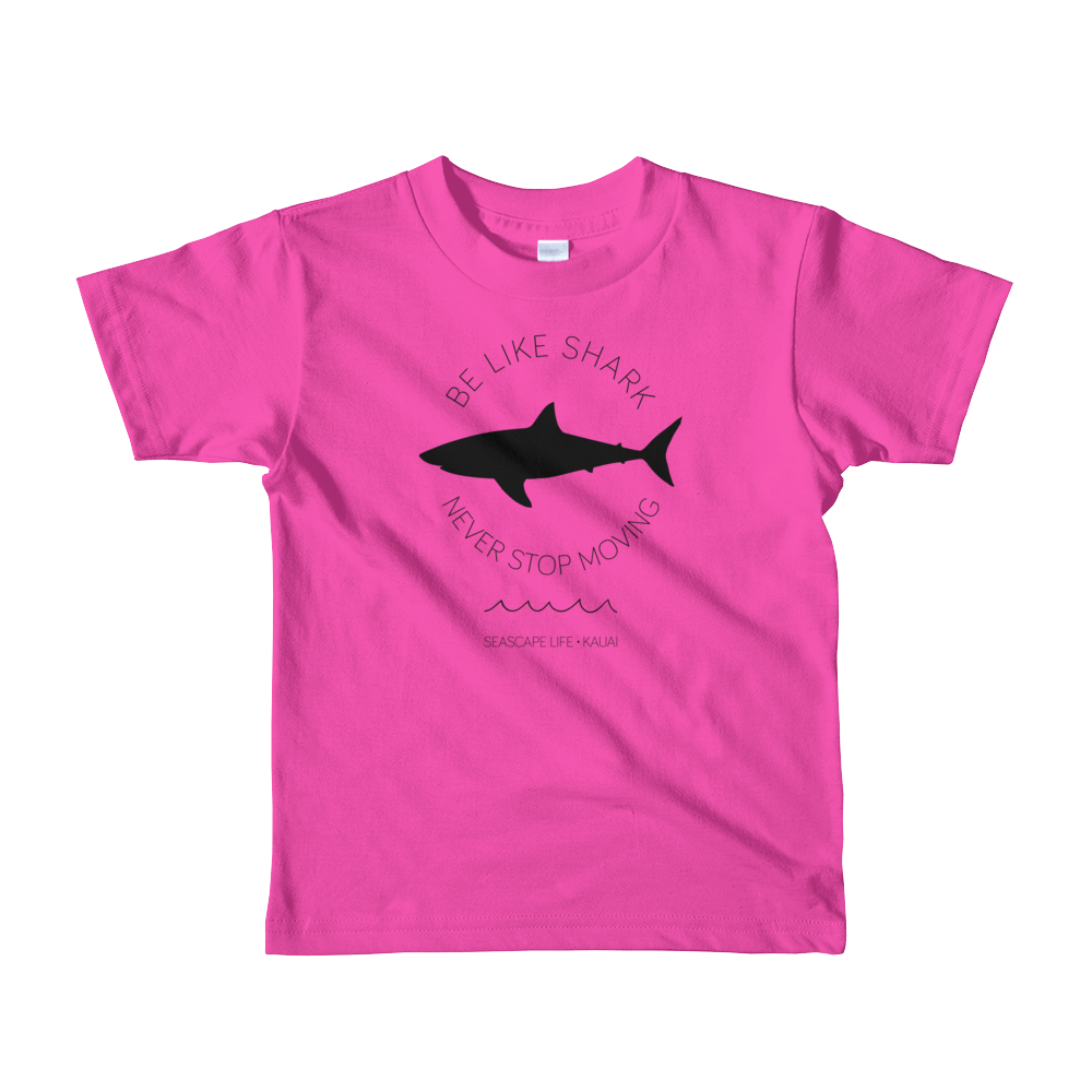 Be Like Shark Never Stop Moving Kids T-Shirt - Seascape Life