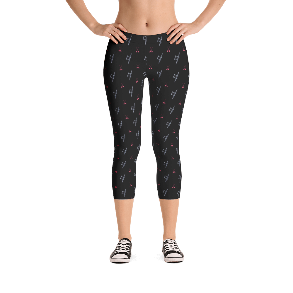 Outrigger Canoe & Paddles Womens Leggings - Seascape Life