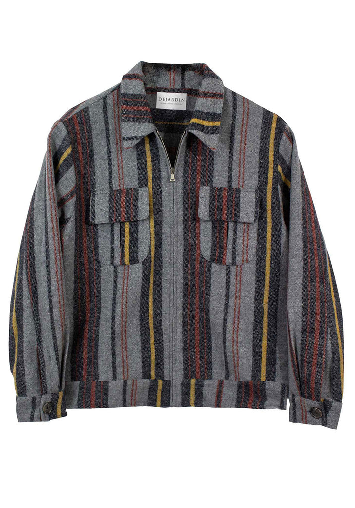 STRIPED SMOKERS JACKET | MULTI