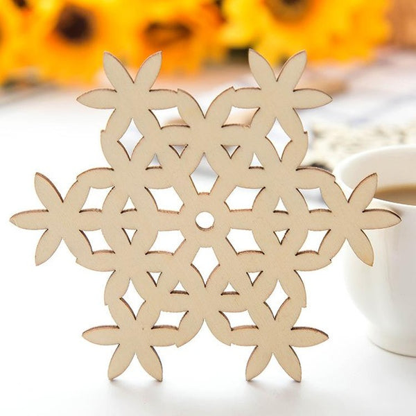 New Kitchen Accessories Wooden Coaster Coffee Mug Cup Drink Coasters Table Decoration